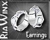 Blue Cuff Earrings