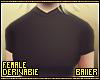 F T-Shirt Black Regular