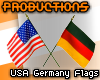 pro. Flags USA Germany