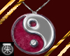 }T{YinYang Necklace Ruby