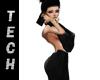Geo Black Gown