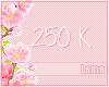 250 K donation sticker