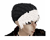 White hair black beanies