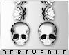 0 | Skull Earrings | Dev