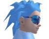 Baby blue fright hair