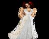 Elegant Gold/white Dress