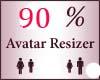 90% Scaler Avatar Resize