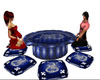 tavolino cinese blu drag