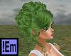 !Em Curly Green UpdoMora