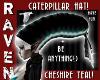 TEAL CATERPILLAR HAT!