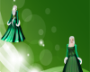 Royal Green Winter Gown