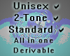 Unisex 2-Tone & Normal