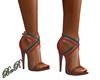 BnR Teal & Orange Heels