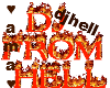 Dj from hell sign