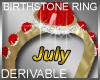 Birthstone Ring July
