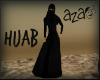 aza~ Hijab- black hood