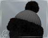 Blck and Gray Winter Hat