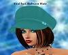 Teal hat auburn hair