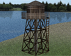 Water Tower Wood Metal