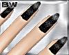 Black Glitter Nails Fm
