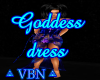 Goddes dress blue dark