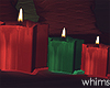Winter Christmas Candles