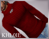 K red turtle neck sweate