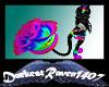 Rainbow Rose Tail Black