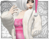 }T{ White Fur w/ Dress