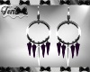 Silver Purple Earrings