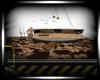 tiger pvc brown bed