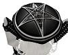 Satanic head umbrella