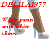 White pants w/whiteshoes