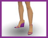 Purple Silken HeelWedges
