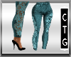 CTG TEAL LACED JEANS RL