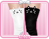 ♛B&W Kitty Socks RL