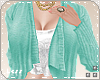 L. Mint Cardigan + top