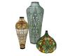 Trio of Glass Vases