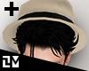 . CREAM HAT w/ HAIR (ADD