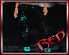 Black And Teal Pants
