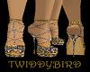 Gold Leopard Heels M