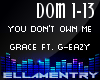 YouDontOwnMe-Grace/GEazy