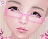 d. geek glasses pink