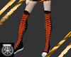 }T{Orange N black Chucks
