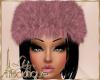 {L} winter fur pink hat