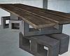 Plank Bricks Table