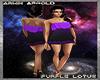 Purple Lotus Club Dress