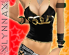 [LYN]Black & Gold top