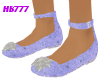 HB777 SFF Shoes Blu/Slvr