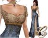 Sadiy Medieval Gown Blue